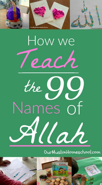 The 99 Names of Allah for Children