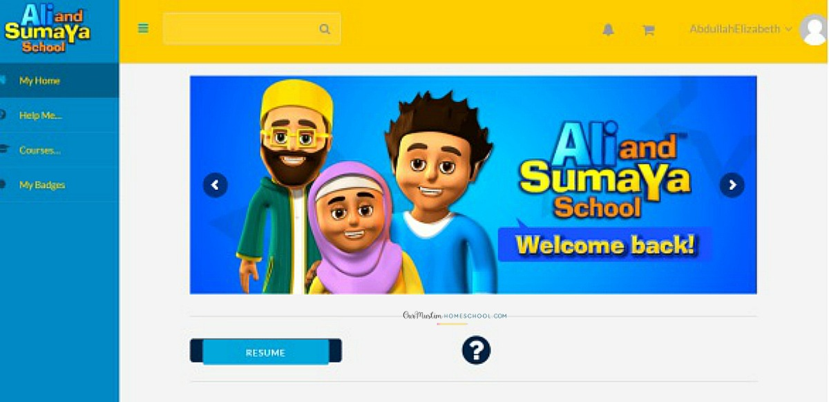 Ali and Sumaya school homepage