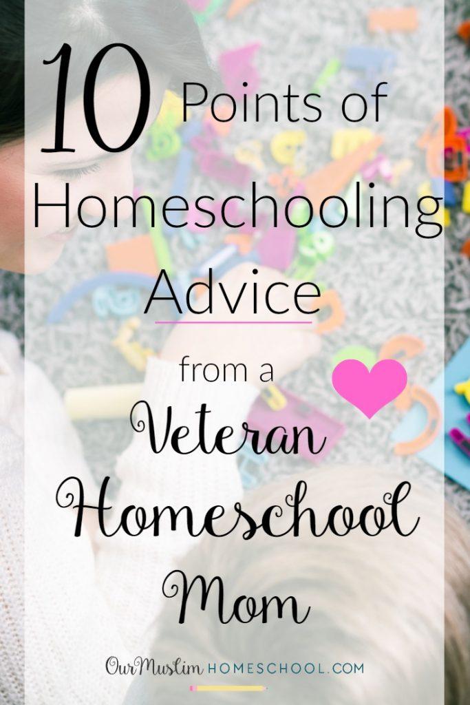 Advice to noew homeschoolers from veteran homeschool mom