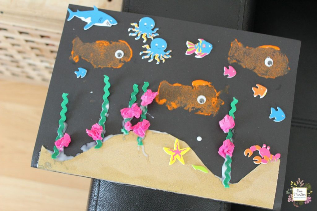 Underwater sea craft from toucan box