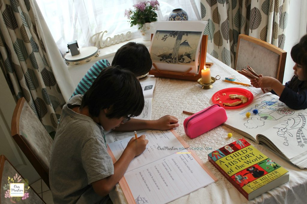 Muslim homeschool circle time