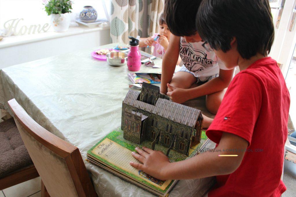 Medieval history pop up book for kids