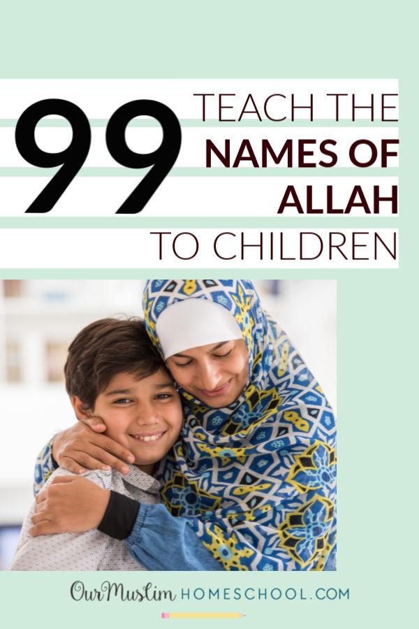 99 names of Allah children