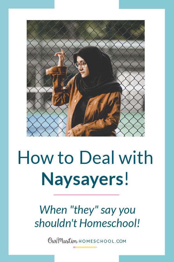 Home education | How to deal with naysayers