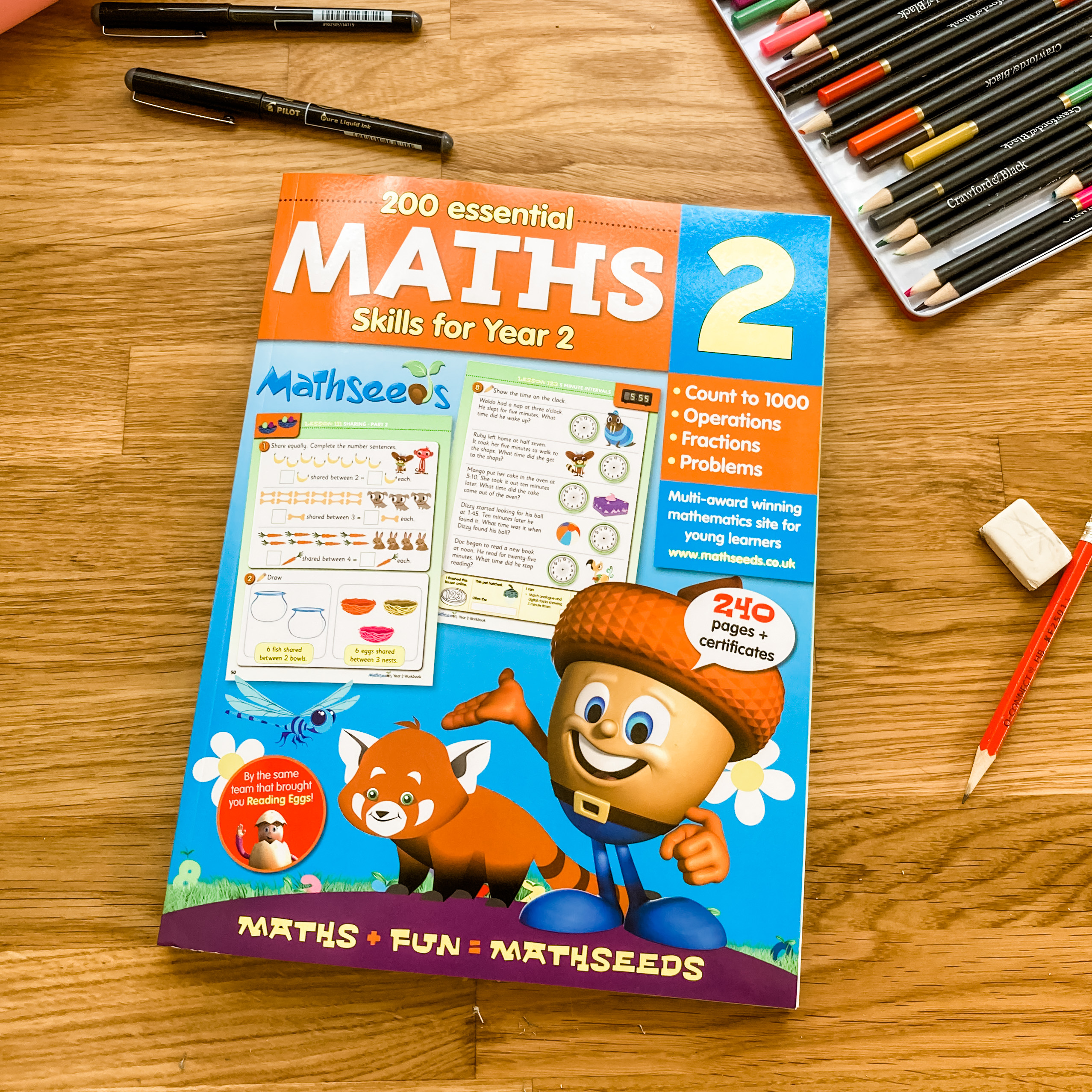 Maths for year 2 - mathseeds workbook review