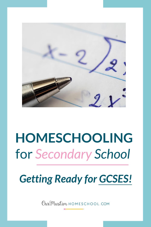 Online Maths GCSE courses homeschooling for secondary school