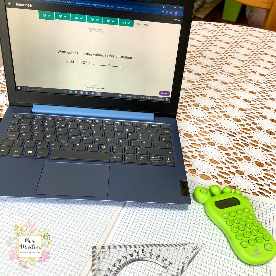 Online Maths GCSE courses on laptop